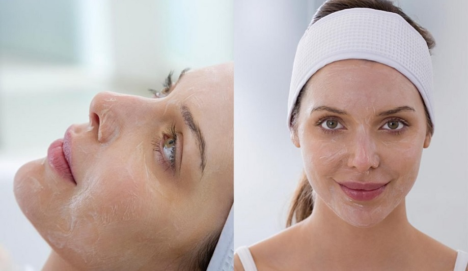 washing face after chemical peel
